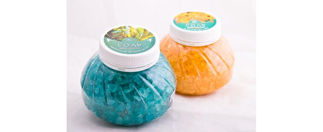 Ароматные фитосоли для ванн с натуральными эфирными маслами